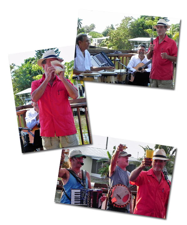 Live entertainment at Macomber's annual Pine Island Reader Rendezvous at Woody's Waterside Pub in St. James City, FL on Pine Island