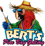 Bert's Pine Bay Gallery in Matlacha, Florida - book signing event + party