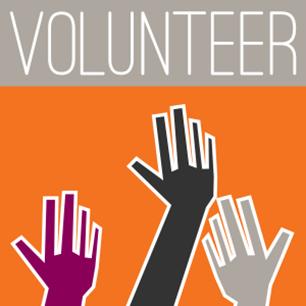 text volunteer with three diverse hands