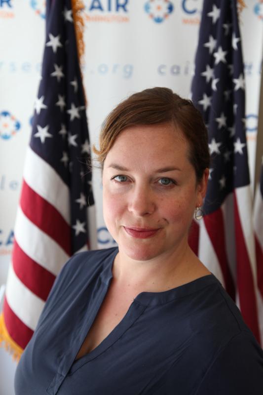 Sarah Stuteville, Media & Outreach Director at CAIR-WA