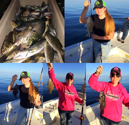 Cissy Duncan and her crew did great out on the water, racking them in.
