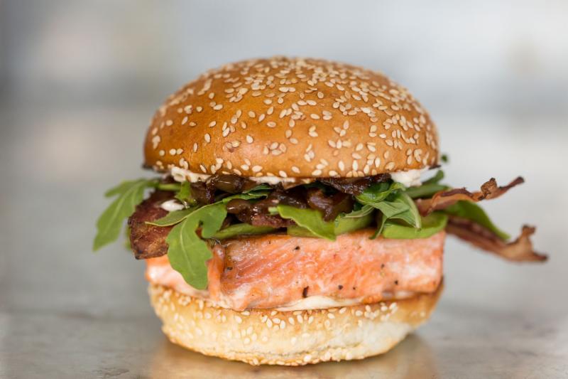 Gott's coho salmon sandwich