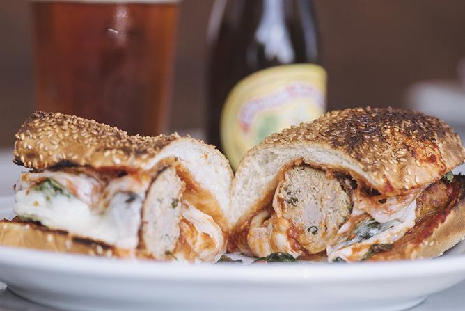 Live Fire Meatball Sandwich