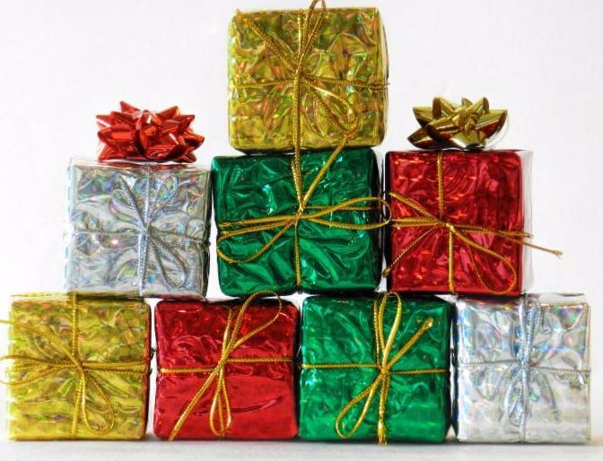 Pile of Christmas presents