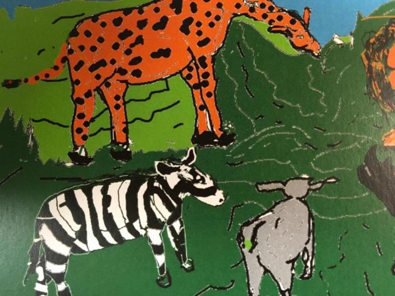 Wildlife art notecard