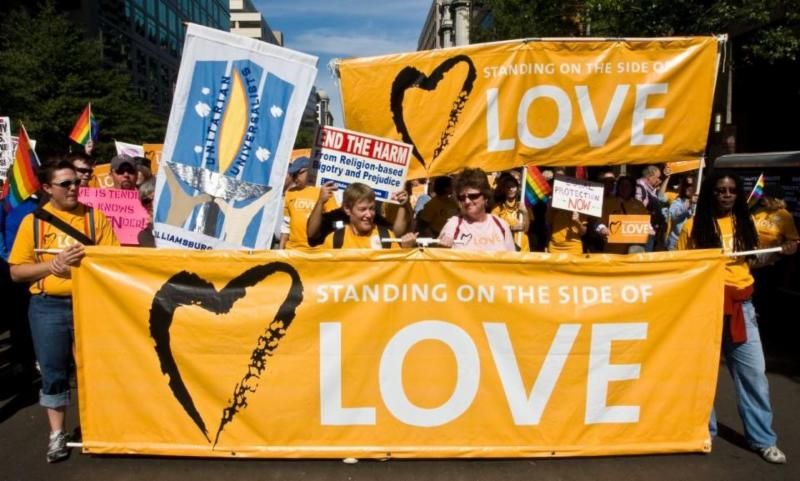 Standing on the side of love banners