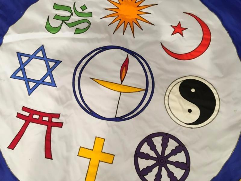 Symbols of many faiths