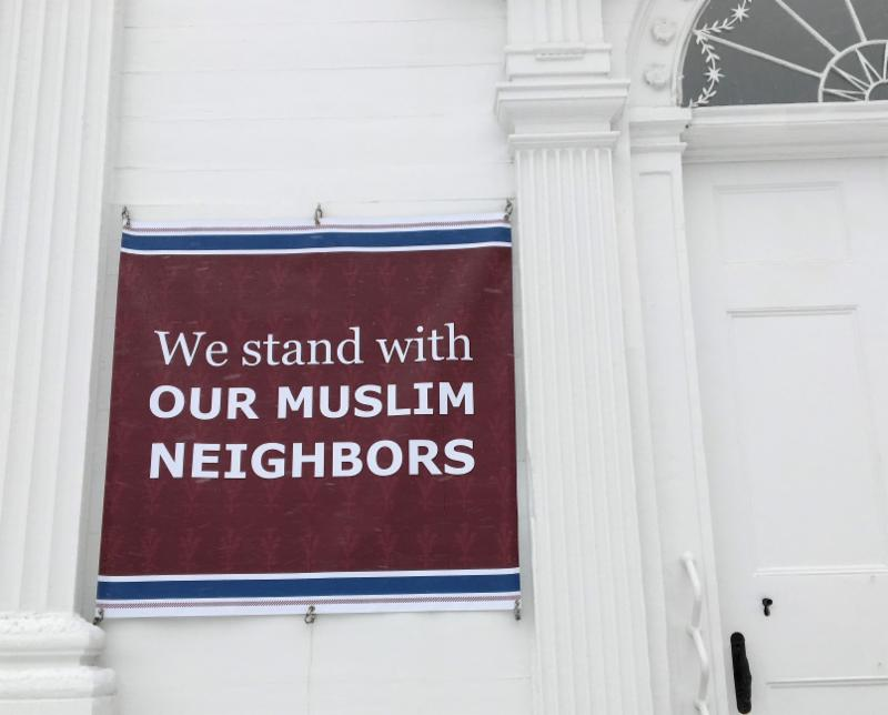 Banner We stand with our Muslim neighbors