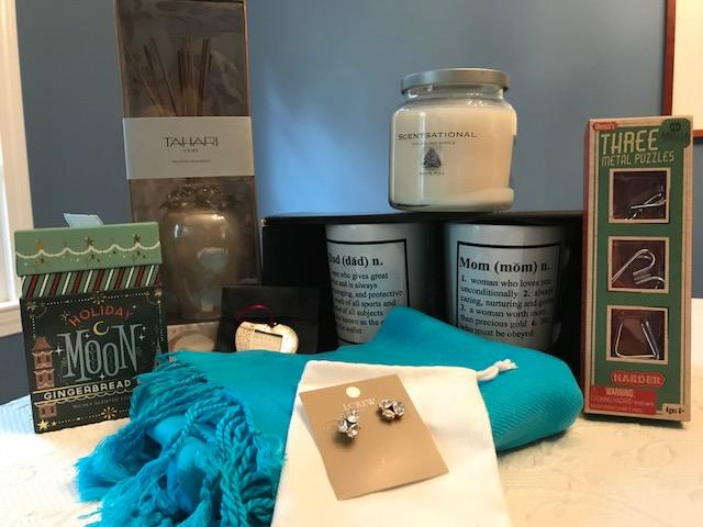 Candles, scarf, puzzle