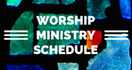 Link to worship ministry schedules