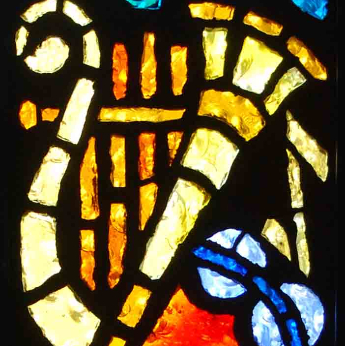 Music Stained Glass Window