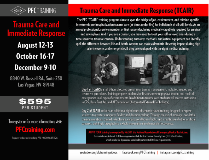 Pfc Training Pfc Training July 2017 Newsletter
