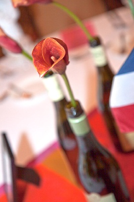 Wine Bottle and Lily