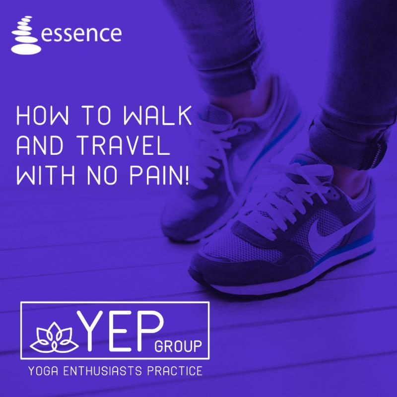 How to Walk and Travel with No Pain YEP group image of feet
