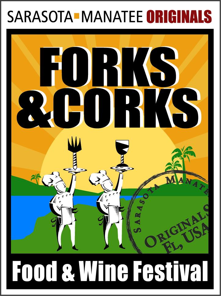 Forks & Corks Logo