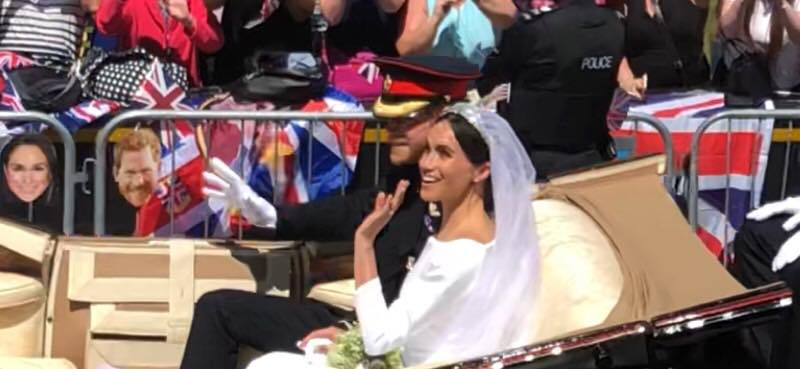 Prince Harry and Meghan Markle in parade