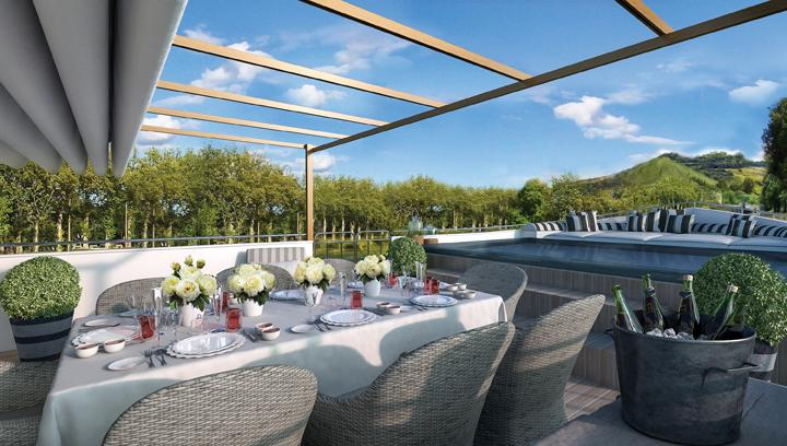 Belmond Afloat in France Outdoor Terrace
