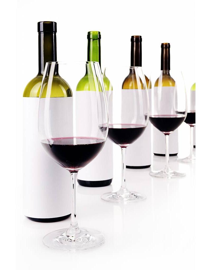 Blind Tasting Bottles and Wine Glasses