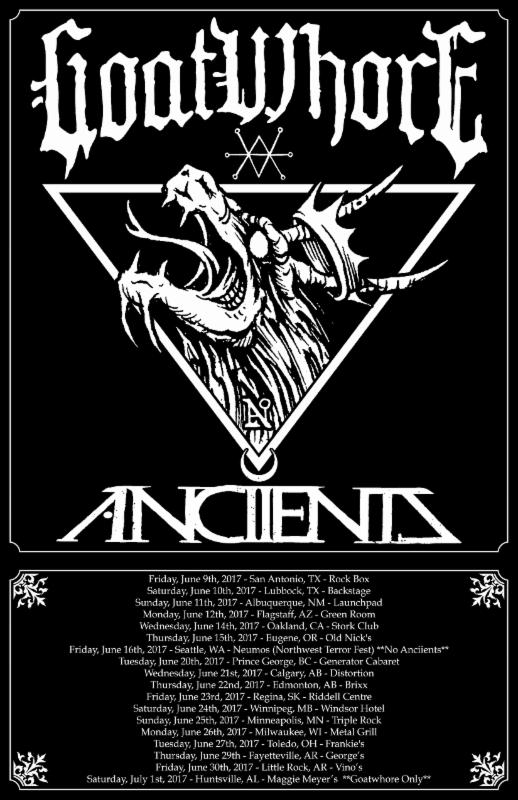 GOATWHORE To Kick Off Headlining Tour With Anciients Friday