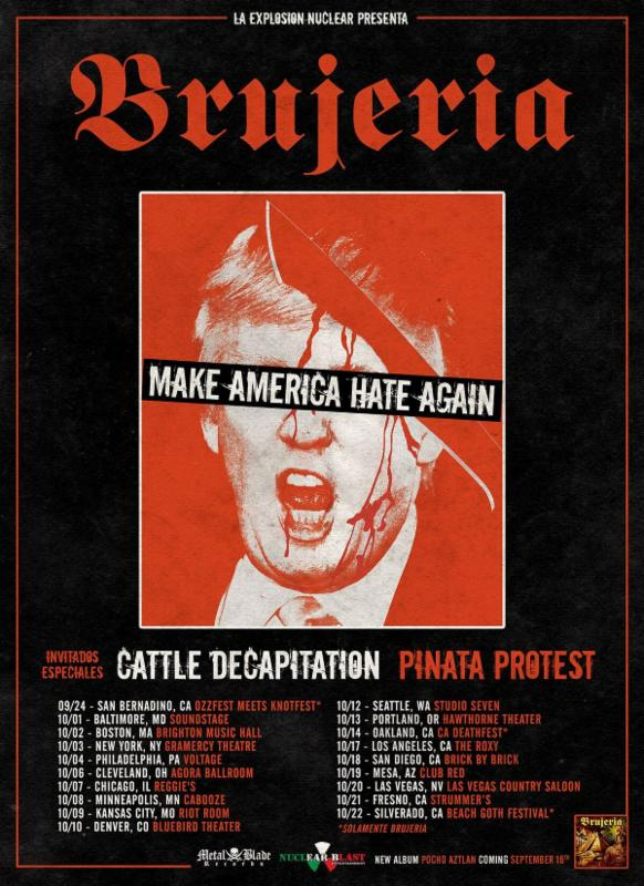 CATTLE DECAPITATION Announces US Tour With Brujeria + Headlining Shows This September