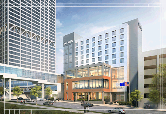 rendering of westin Milwaukee