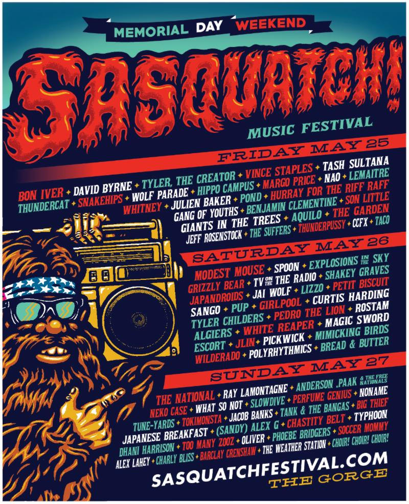 Sasquatch! Festival 2018 | Lineup | Tickets | Dates
