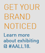 Exhibit at AALL 2018 graphic