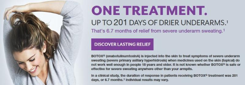 BOTOX for sweating