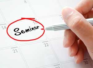 Seminar written on calendar page