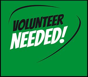 Volunteer needed graphic