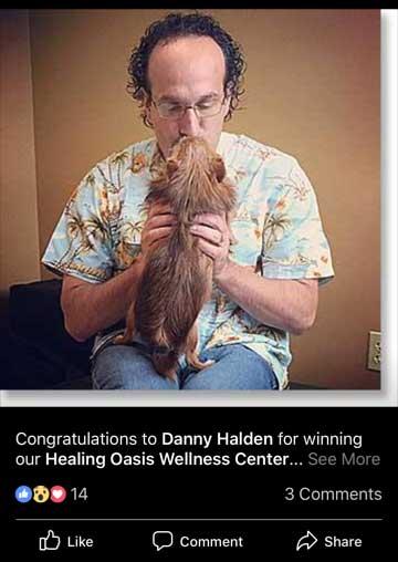 Facebook contest winner Daniel Halden