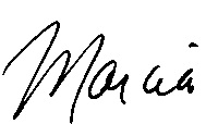 marcia first name signature