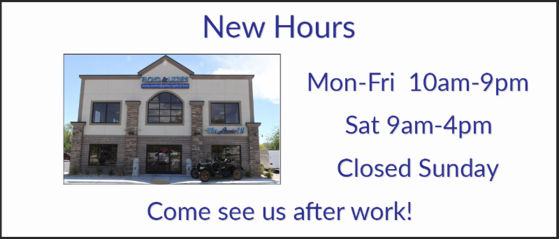 New Store hours Mon-Fri 10am-9pm