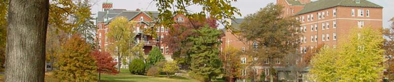 The beautiful campus of Sisters of Charity