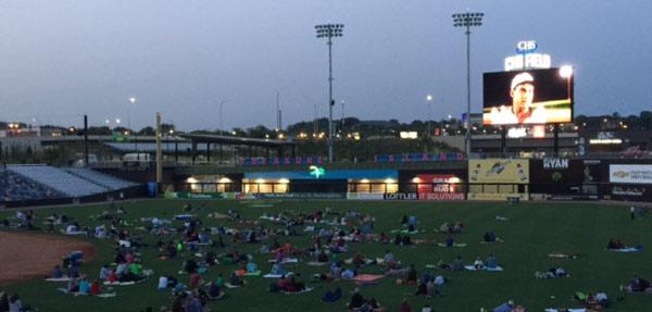 Movie night at CHS field