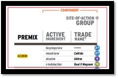 Herbicide Classification chart clip