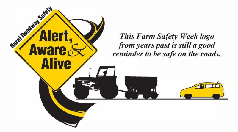 Farm safety logo with note