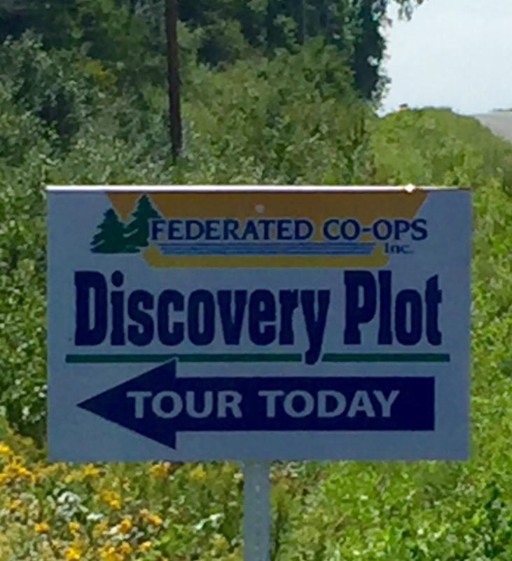 Discovery Plot tour sign
