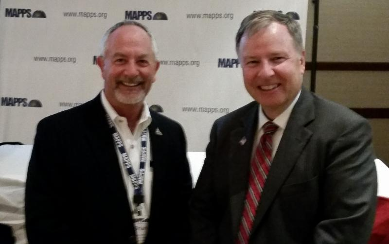 Congressman Lamborn with Brian Raber (Merrick & Company, Greenwood Village, CO) who became  MAPPS President during the conference.