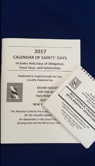 Braille Saints_ Days Calendar _ Pocket Calendar