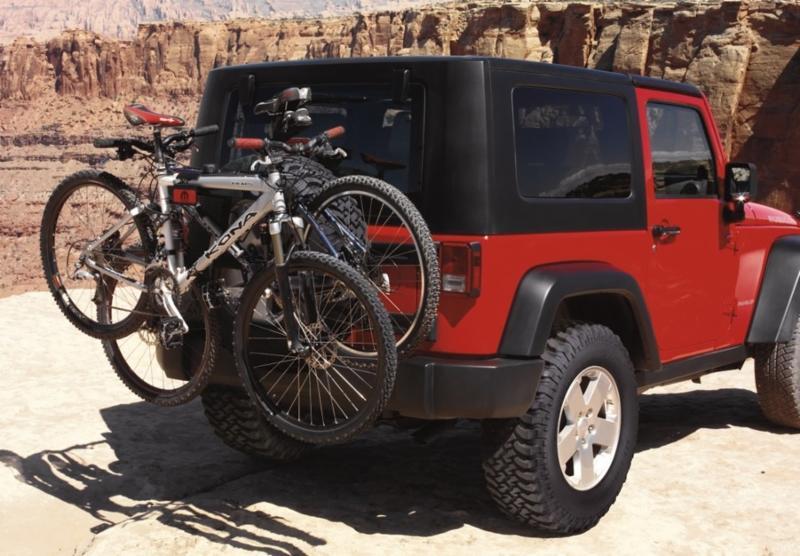 Jeep with Bike Rack