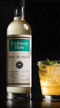 District Distilling Co._s Embassy Row bottle of Creme de Menthe