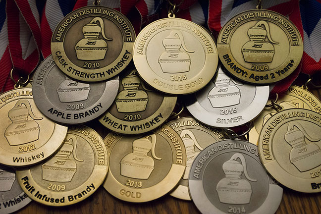 medals from ADI Judging of Craft Spirits