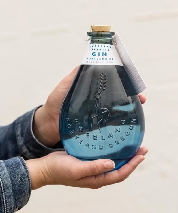 Freeland Spirits gin bottle