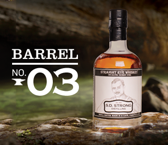 Barrel No. 3  S.D. Strong Straight Rye Whiskey.