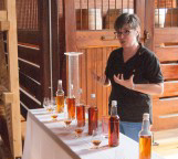 Nancy Fraley teaching a workshop at Ironroot Distillery in Texas