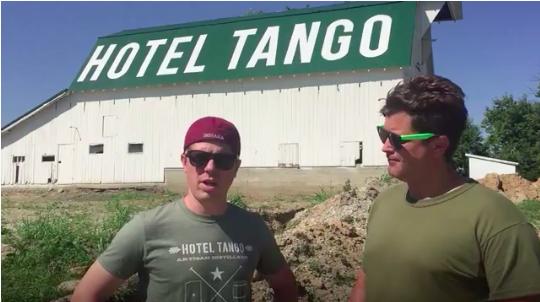 Hotel Tango Whiskey distillery barn.