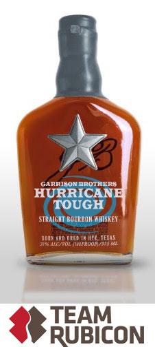 Hurricane Tough bottle from Garrison Bros.