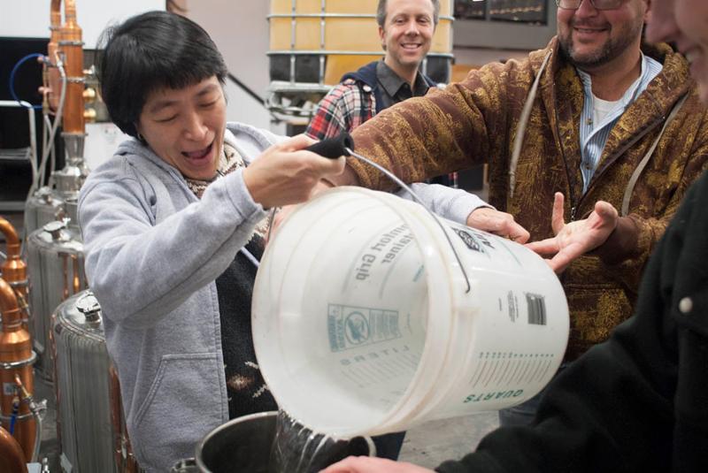 ADI hands-on distilling workshop.
