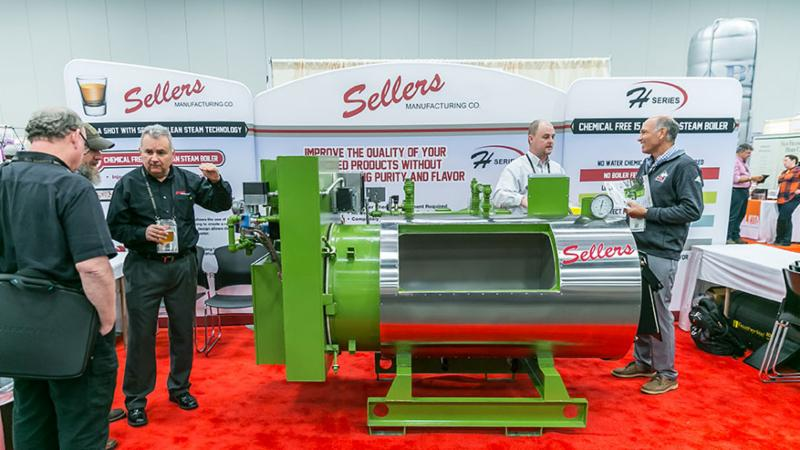Sellers manufacturing booth at 2018 Vendor Expo